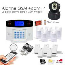 Alarme GSM, 99 zones XXL et camera IP
