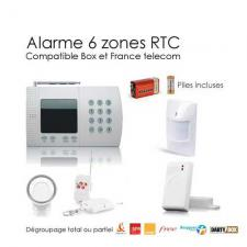 Kit alarme sans fil de maison,  6 Zones Easy BOX