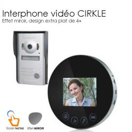 Interphone video Miroir rond