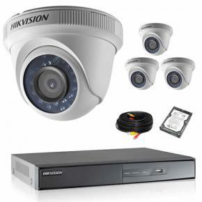 Kit de vidéosurveillance HIKVISION 4 dômes 1080P HD avec disque dur