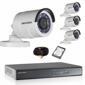 Kit de vidéosurveillance HIKVISION 4 tubes 1080P HD avec disque dur