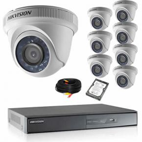 Kit de vidéosurveillance HIKVISION 8 dômes 1080P HD avec disque dur