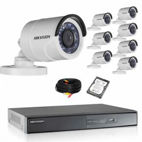 Kit de vidéosurveillance HIKVISION 8 TUBES 1080P HD avec disque dur