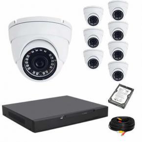 Kit de vidéosurveillance 8 dômes 720P WBOX avec disque dur