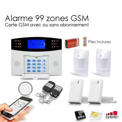 Alarme maison sans fil gsm 99 zones medium toutes les for Alarm maison sans fil