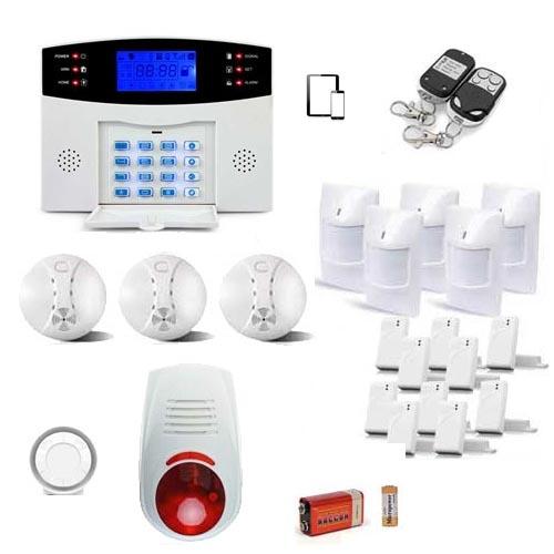 Kit alarme maison sans fil gsm complet for Alarme de maison sans fil