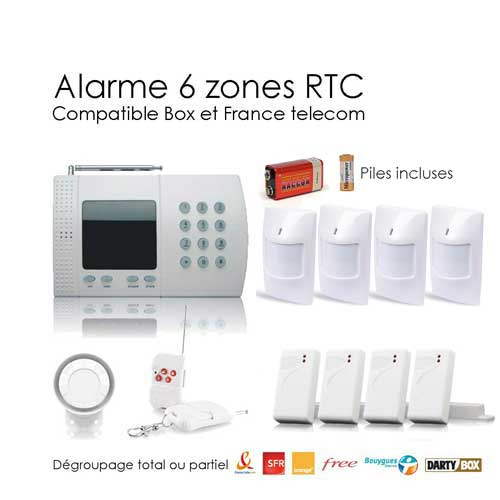 Alarme maison sans fil de 6 zones xl box toutes les for Alarme maison securite good deal