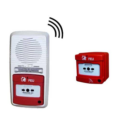 alarme type 4 radio avec 1 d clencheur protection incendie pour la maison. Black Bedroom Furniture Sets. Home Design Ideas