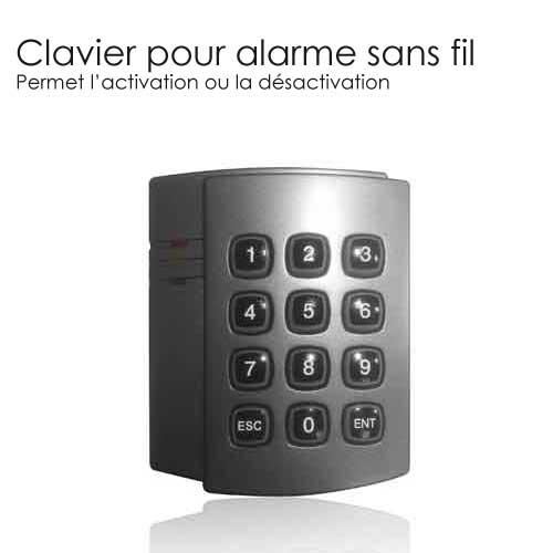 clavier alarme digicode completer mon alarme sans fil. Black Bedroom Furniture Sets. Home Design Ideas