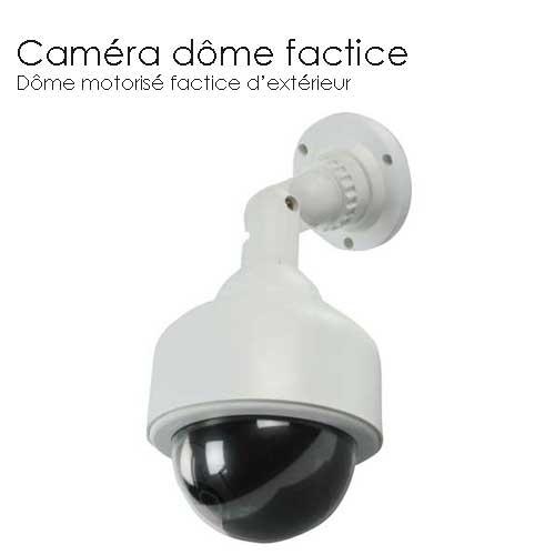 Camera dome factice d 39 ext rieur cameras factice accessoires vid o surveillance tout le - Camera factice exterieur ...