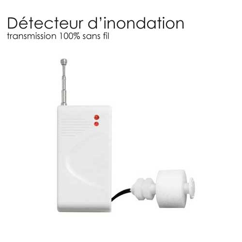detecteur sans fil d 39 inondation completer mon alarme sans fil. Black Bedroom Furniture Sets. Home Design Ideas