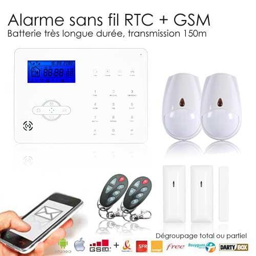 Quel alarme choisir pour une maison alarme volumtrique for Alarme maison sans fil diagral