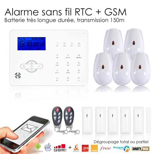 Alarme maison iphone et android sans fil gsm revolution xxl for Alarme de maison