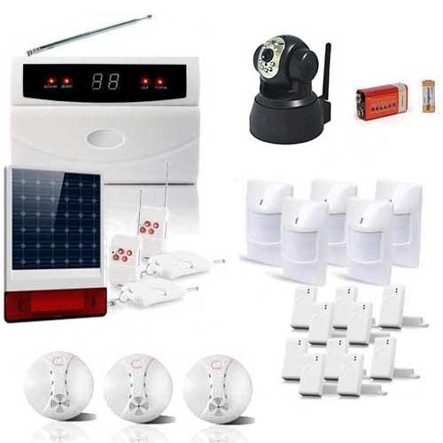 kit alarme de 32 zones sirene solaire et camera ip toutes les alarmes de maison sans fil. Black Bedroom Furniture Sets. Home Design Ideas