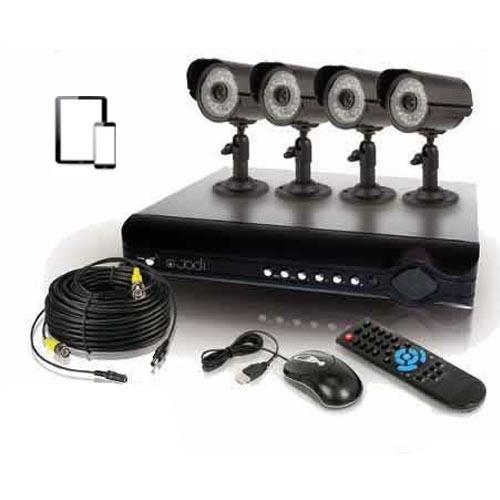 kit de videosurveillance 4 cameras super cmos cam ras ip et wifi. Black Bedroom Furniture Sets. Home Design Ideas