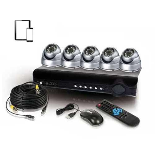 kit de vid osurveillance 5 d mes 600 lignes cmos kit video surveillance syst me de cam ra. Black Bedroom Furniture Sets. Home Design Ideas