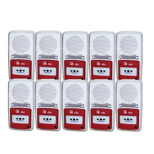 pack 10 alarmes type 4 autonome pile protection incendie pour la maison. Black Bedroom Furniture Sets. Home Design Ideas