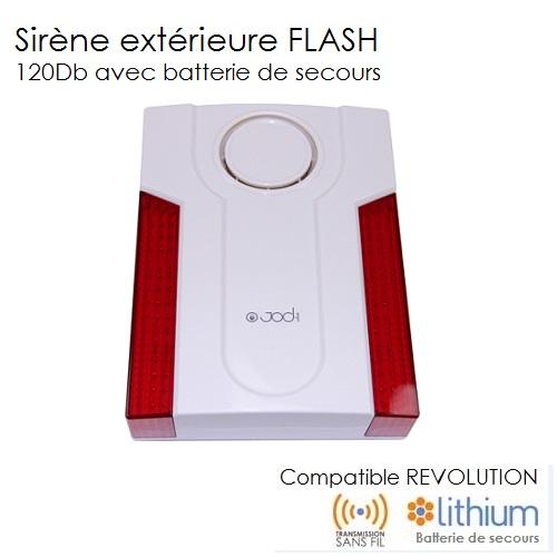 Sir ne ext rieure 120 db revolution completer mon - Alarme maison sirene exterieure ...