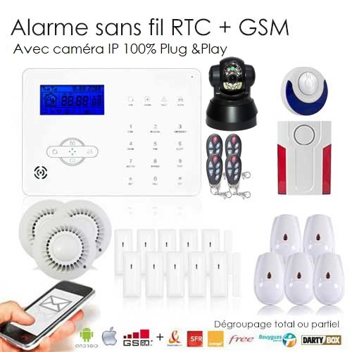 Alarme maison avec cam ra ip revolution pack ultra s curit for Alarme de securite pour maison