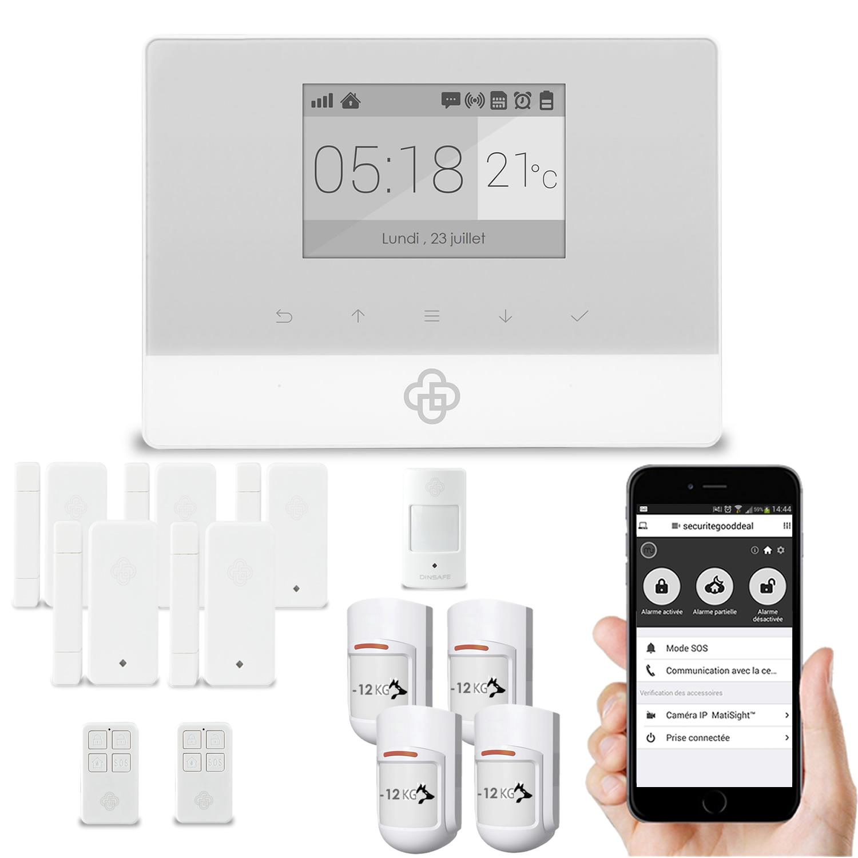 Alarme maison gsm sans fil domotique - Alarme sans fil gsm ...