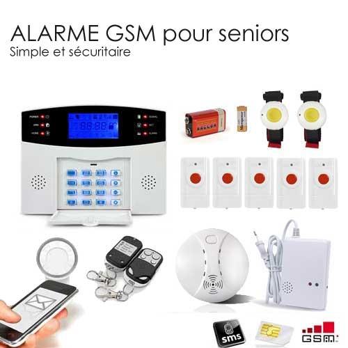 alarme gsm retraite seniors toutes les alarmes de. Black Bedroom Furniture Sets. Home Design Ideas