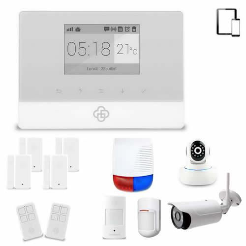 kit alarme maison sans fil gsm appure et cam ras wifi toutes les alarmes de maison sans fil. Black Bedroom Furniture Sets. Home Design Ideas
