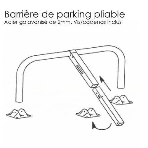 barri re de parking u escamotable blocs parking. Black Bedroom Furniture Sets. Home Design Ideas