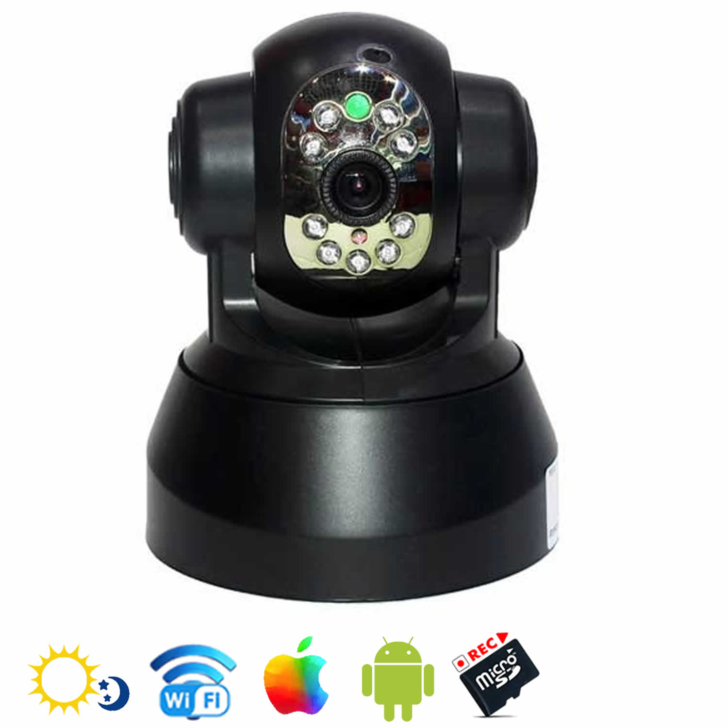 camera ip plug and play wifi motorisee. Black Bedroom Furniture Sets. Home Design Ideas