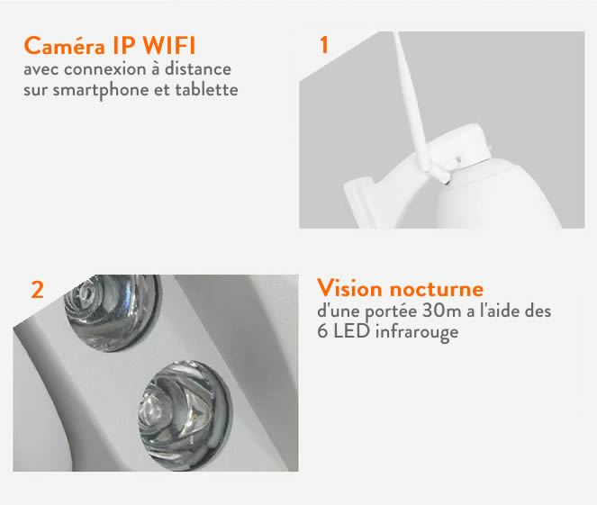 cam ra de surveillance motoris e ip wifi 2mp ext rieure 16go camera ip tout le mat riel de. Black Bedroom Furniture Sets. Home Design Ideas