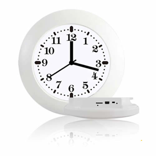 Caméra IP WIFI Horloge murale blanche HD