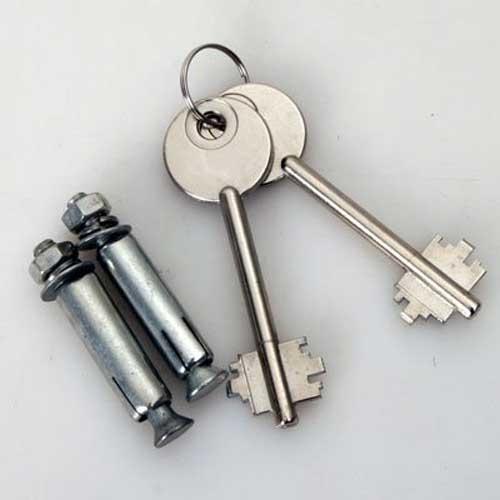 Coffre fort a clef,7L acier galvanise de 4mm  Coffre fort