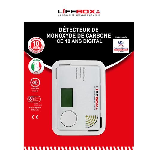 D tecteur de monoxyde de carbone ce 10 ans digital protection incendie pour la maison - Detecteur de monoxyde de carbone ...