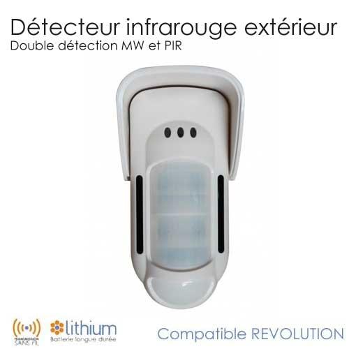 detecteur infrarouge ext 233 rieur revolution completer mon alarme sans fil