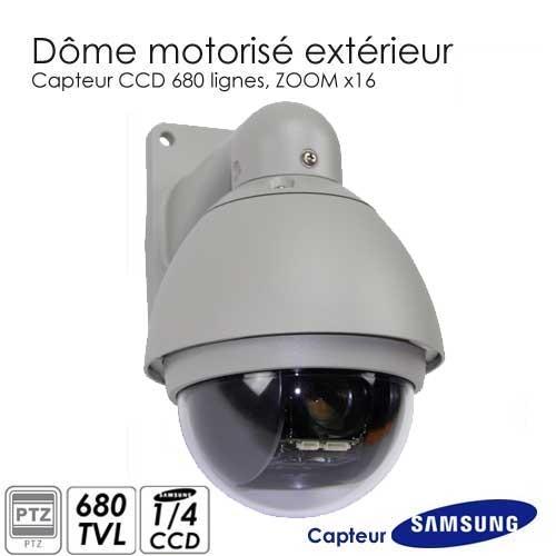 camera exterieure ptz 680 lignes ccd samsung cam ra de surveillance s curit good deal. Black Bedroom Furniture Sets. Home Design Ideas
