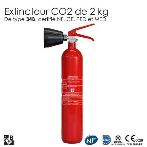 extincteur co2 2kg b nf protection incendie pour la maison. Black Bedroom Furniture Sets. Home Design Ideas