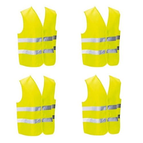 Gilet jaune de sécurité - 4 pièces