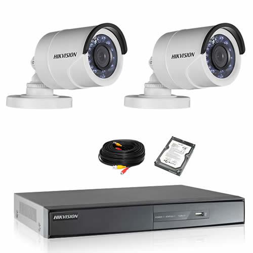 Kit de vidéosurveillance HIKVISION 2 tubes 1080P HD avec disque dur