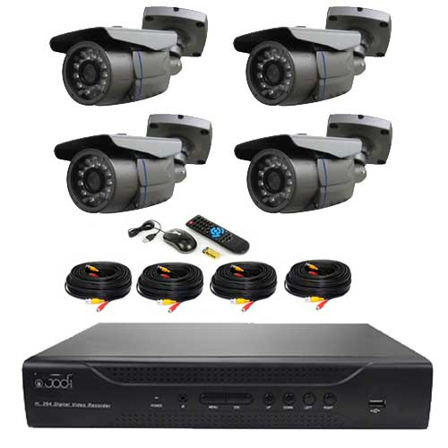 kit surveillance vid o 4 cam ras ccd sony pack vid o surveillance tout le mat riel de vid o. Black Bedroom Furniture Sets. Home Design Ideas
