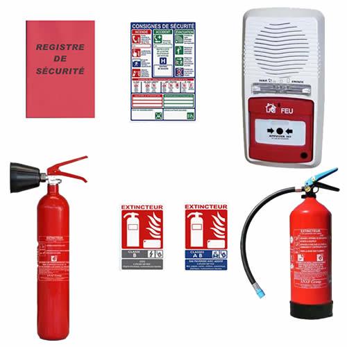 Pack ERP sécurité alarme incendie et extincteurs