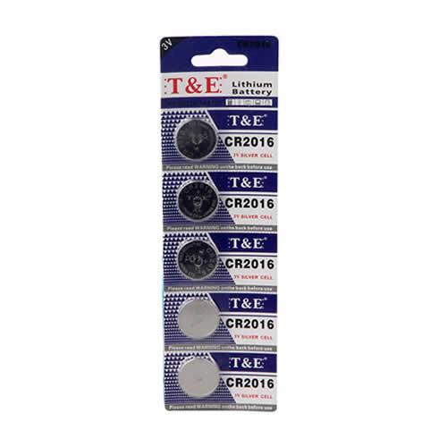 lot de 5 piles cr2016 3v lithium petits accessoires pour les alarmes. Black Bedroom Furniture Sets. Home Design Ideas