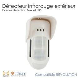 detecteur infrarouge ext rieur revolution completer mon alarme sans fil. Black Bedroom Furniture Sets. Home Design Ideas