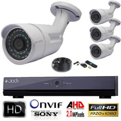 Kit AHD 1080P 4 tubes varifocales 2.0 MP CCD SONY