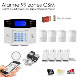 Alarme GSM 99 Zones Compatible Animaux