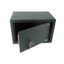 petit coffre fort a clef 13l acier galvanise serrure. Black Bedroom Furniture Sets. Home Design Ideas