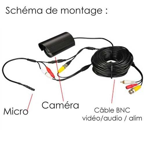 micro pour camera analogique connectique pour alarme et vid osurveillance. Black Bedroom Furniture Sets. Home Design Ideas