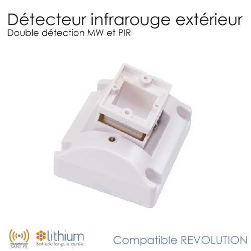 Detecteur infrarouge ext rieur solaire revolution for Alarme exterieur sans fil