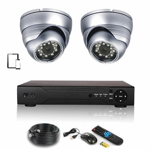 kit de vid osurveillance 2 d mes ext rieurs kit video surveillance syst me de cam ra. Black Bedroom Furniture Sets. Home Design Ideas
